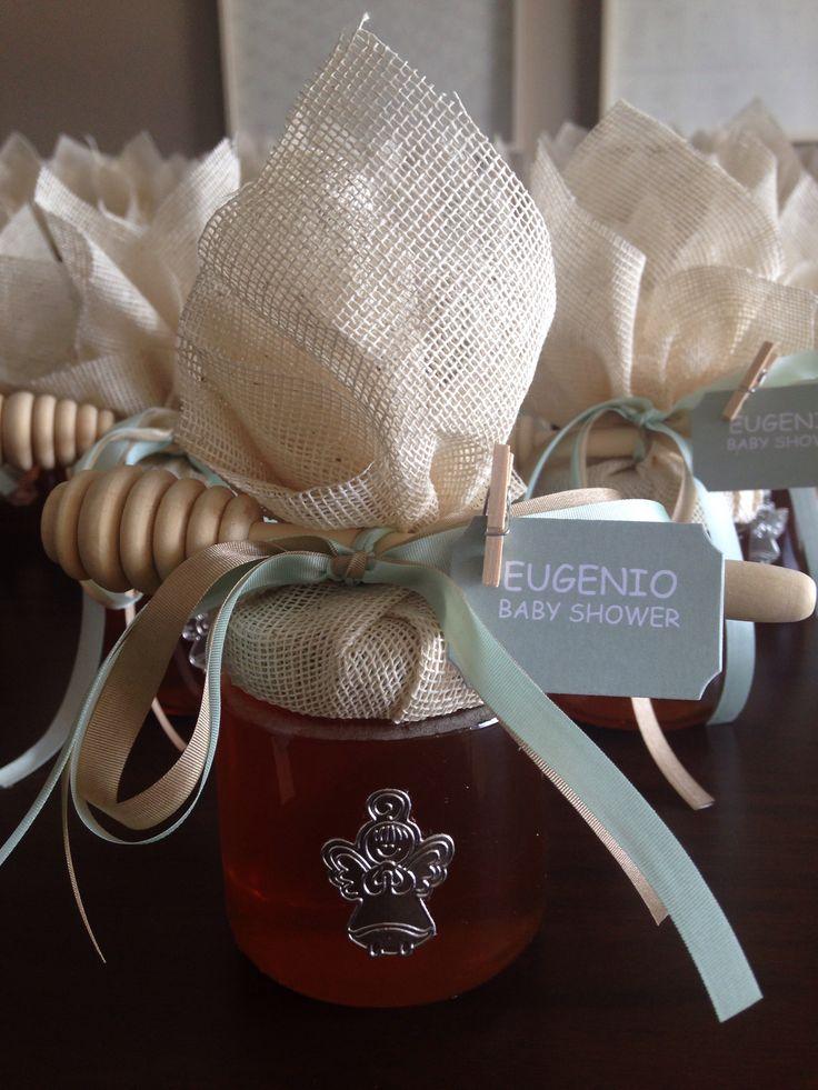 Frascos de miel decorados para baby shower!!