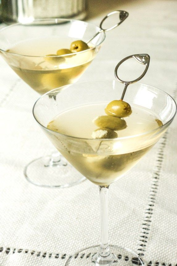 Perfect Dirty Martini 1.5 oz Vodka (kettle one, grey goose) The better the vodka the better the taste! 1 oz Olive brine 2-3 Blue Cheese stuffed olives (I stuff mine with gorgonzola) Dry vermouth (small dash) Ice