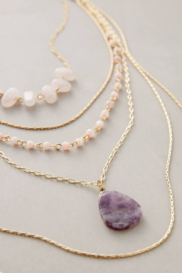 Violett Layer Necklace #anthrofave