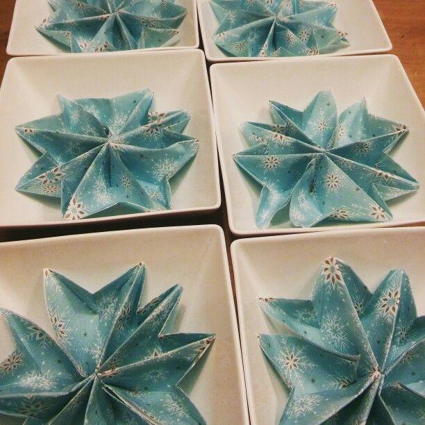Snowflakes napkins