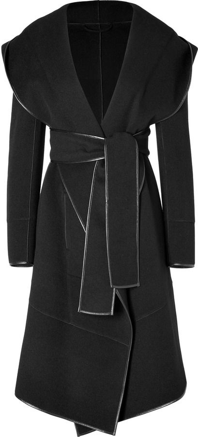 Donna Karan Cashmere Coat in Black | #Chic Only #Glamour Always