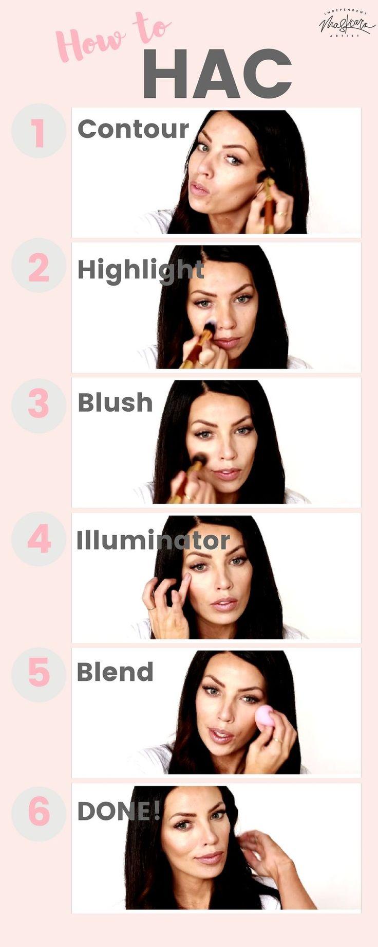 How to HAC  Maskcara Makeup Tutorial  How to Hightlight and Contour