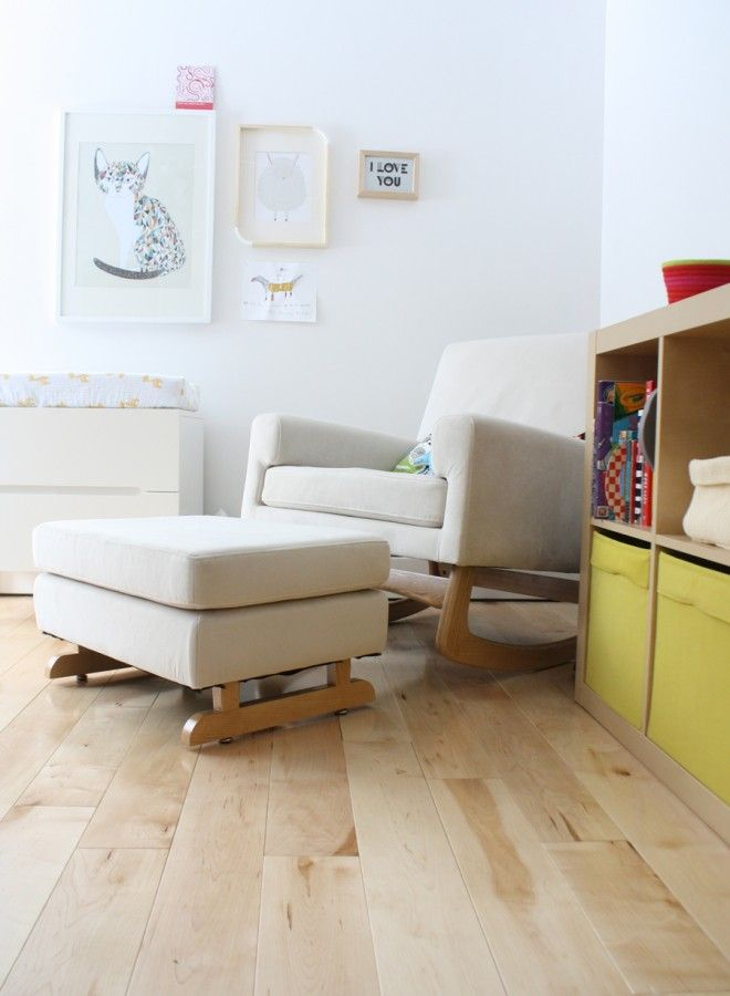 Cute nursery spot by Emily from Merrypad - including Bellawood Natural Maple!