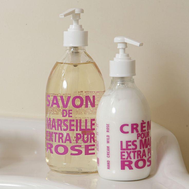 #Sapone e #crema mani rose by Compagnie de Provence  #Bathroom #handsoap #liquidsoap