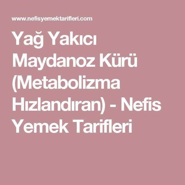 Yağ Yakıcı Maydanoz Kürü (Metabolizma Hızlandıran) - Nefis Yemek Tarifleri