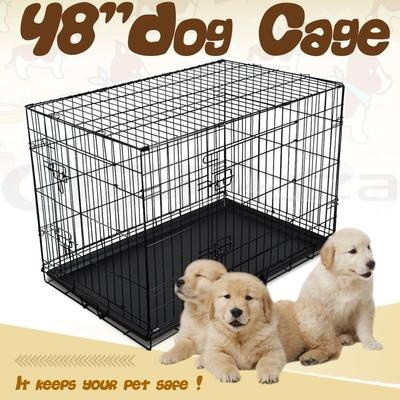 "48"" XXLarge Collapsible Metal Pet Dog Puppy Cage Crate"