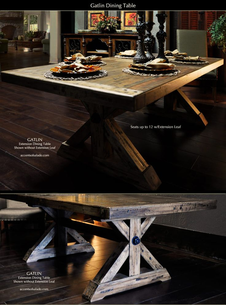 The Gatlin Long Dining Table And Bench Are Perfect For Rustic
