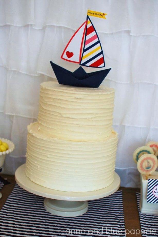 Versier je Feest: Alle hens aan dek! verjaardag taart, nautisch | www.puurfeesten.nl
