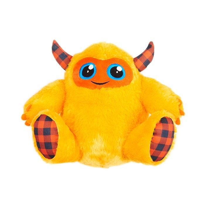 Bootique Monster Plush Dog Toy Yellow 26cm Petbarn Plush Dog