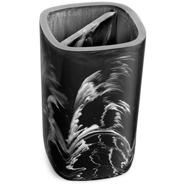Paradigm Trends Murano Toothbrush Holder ($30) ❤ liked on Polyvore featuring home, bed & bath, bath, bath accessories, paradigm trends bath accessories, modern toothbrush holder, modern bathroom accessories, resin bath accessories and modern bath accessories