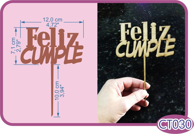 Cake topper Feliz Cumple. -Pedidos/Inquiries to: crearcjs@gmail.com