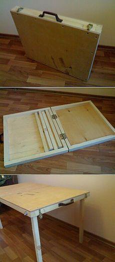 Plegable mesa de picnic.