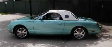 My dream car: an aqua 2002 Ford Thunderbird.