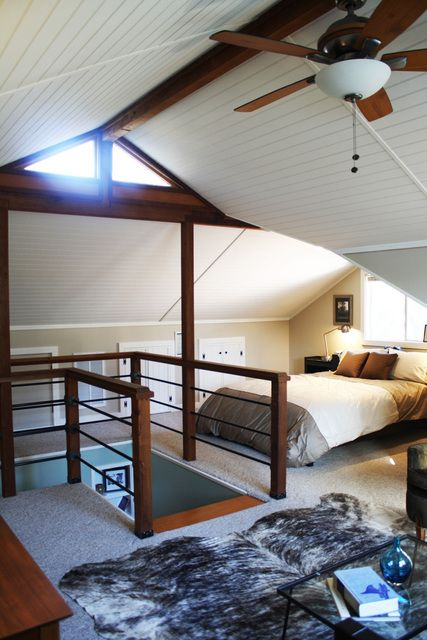 spare bedroom/kids room/farmhouse/barn bedroom in attic.. super cool.. i'd never leave that room.
