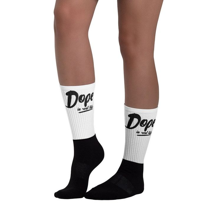 Dope in Real Life Black foot socks @ drewholiday.com
