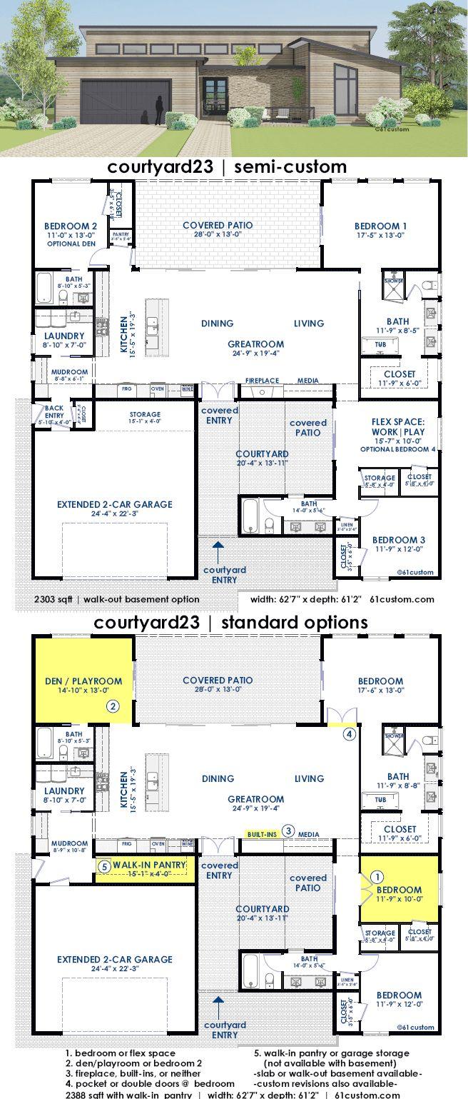Courtyard23 Semi Custom Home Plan