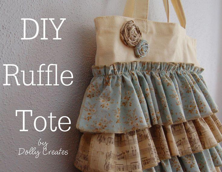 Dolly Creates: DIY Ruffle Tote