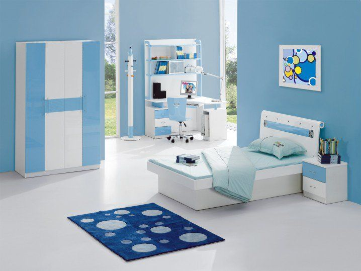 Childrens Room with a Blue theme