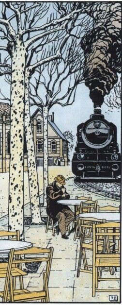 Very nice perspective. Comic by Vittorio Giardino