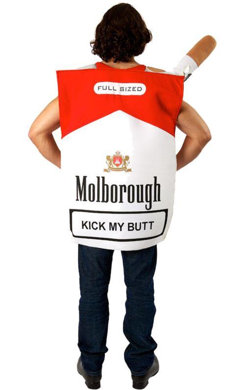 "Cigarette carton costume #Halloween #drinkinggear www.LiquorList.com ""The Marketplace for Adults with Taste!"" @LiquorListcom  #LiquorList"
