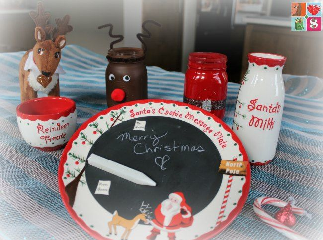 @HavingFunSaving How To Make Santa Mason Jars + More Holiday Jar Tutorials, including our OSAKIDS Santa's Message Cookie Plate! LOVE!