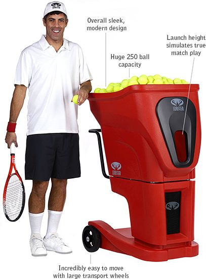 The Phenom is among the latest tennis ball machines to be released by Lobster Sports. The Phenom is designed for tennis clubs, resorts, and home court owners looking for the latest in tennis ball machine technology at a price well below the competition. The Phenom offers unrivaled full random oscillation. This revolutionary design allows the machine to throw balls throughout the entire spectrum of the court mixing up speed, spin, trajectory, oscillation, and feed rate.