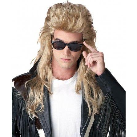 Mens Blonde 80s Mullet Wig
