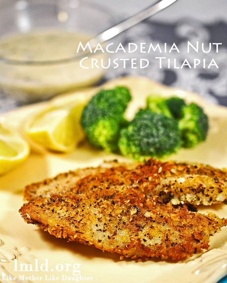 This Macademia Nut Crusted Tilapia is the best homemade tilapia ever. Make this! #lmldfood