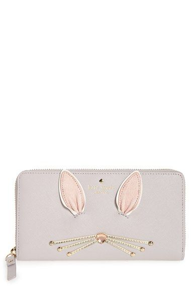 Free shipping and returns on kate spade new york make magic rabbit lacey wallet at Nordstrom.com. Gleaming whiskers with a crystal nose, long ears and a fluffy bunny tail pattern a durable zip-around wallet with so many card slots and pockets, getting organized will be almost like magic.