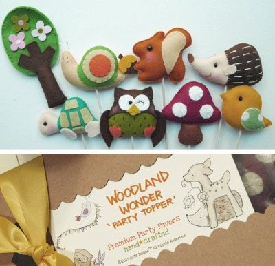 Set of 4 WOODLAND WONDER Fall Inspired Custom Party par GiftsDefine