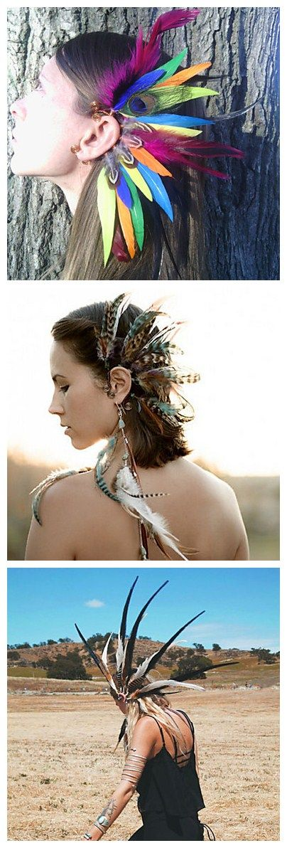 What a marvelous feather ear cuffs, great prop to do photography!