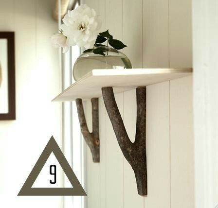 Use them as shelf brackets.  -Another great idea. I am likung the suggestions of this East Texas Blogger.