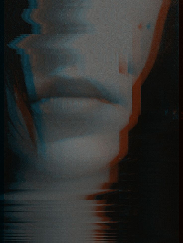 me, glitch, lips, black and white