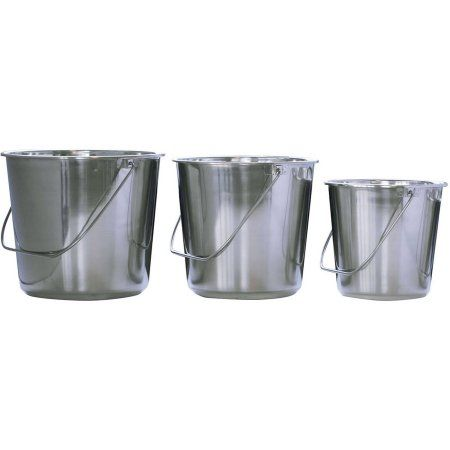 AmeriHome Assorted Stainless Steel Bucket 3-Piece Set