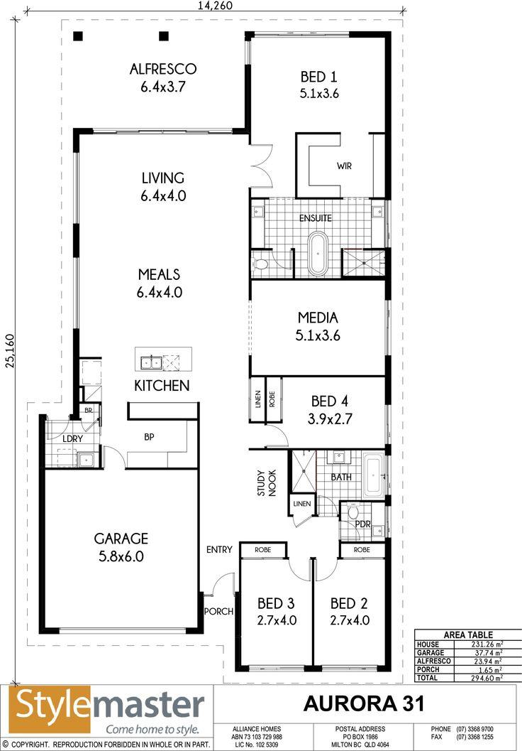 60 best australian house plans images on pinterest floor plans aurora 31 15 stylemaster homes malvernweather Gallery