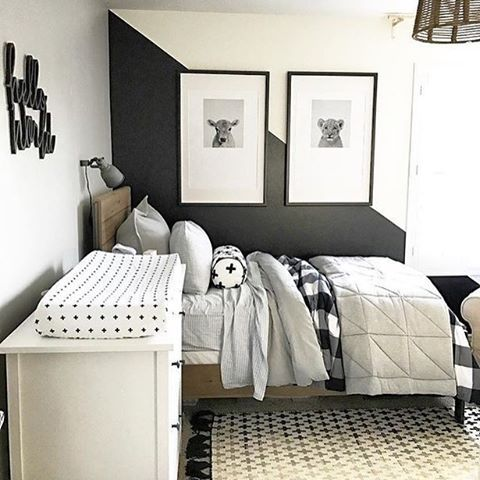 It's Thursday, which means it's BASICALLY the weekend. Sending some black and white yumminess, compliments of @lifestyledco. Here's the big boy side, hop over to her profile to see the nursery side, which is equally dreamy!