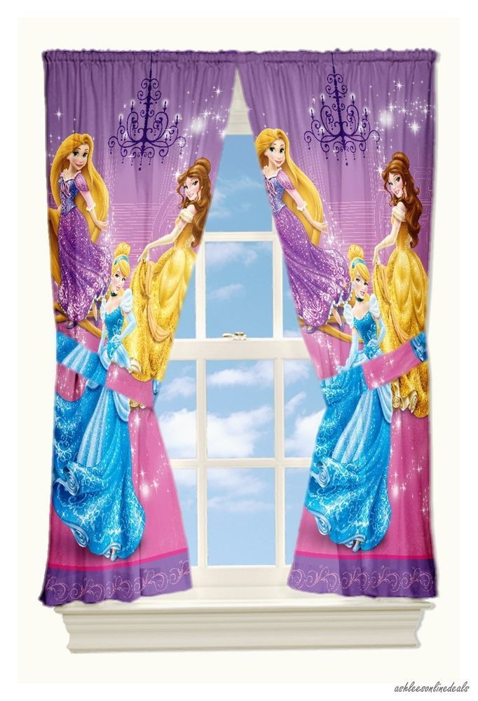 New Disney Princesses Drapes Window Curtains 2 Panels