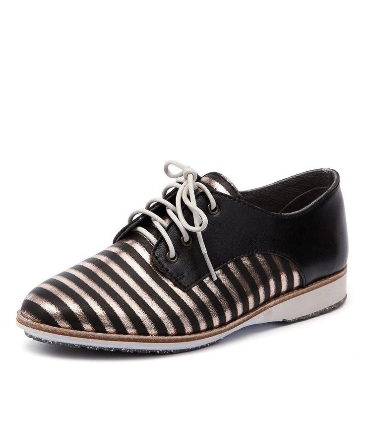 Women's Derby Stripe Black/Bronze