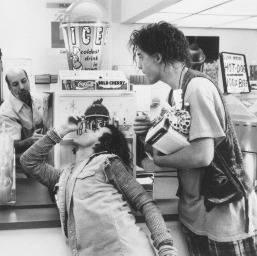 Encino Man   Gas station burritos, hot on the outside, icicle in the middle!  :)  I watched this movie waaaaaaaay too many times!!