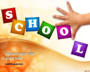 Educating Children PowerPoint Template. Descargar gratis desde el enlace