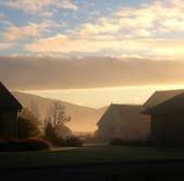 Mid-winter morning at Vintners Retreat, Marlborough