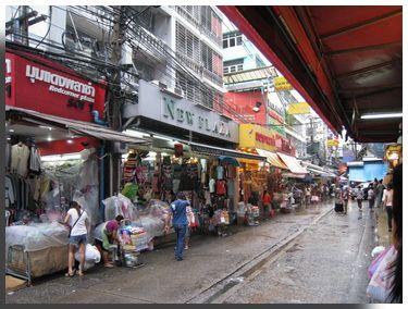 Pratunam wholesale clothing Bangkok: travel and tour