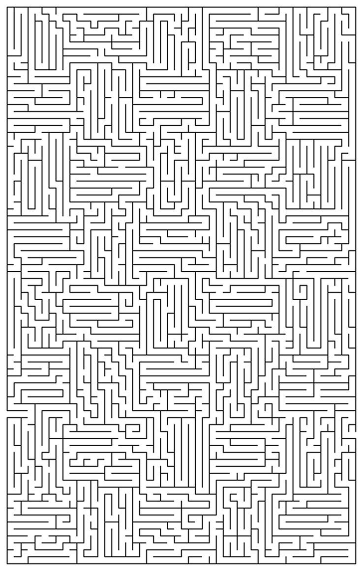 Extremely Difficult Coloring Pages | Very Difficult Mazes
