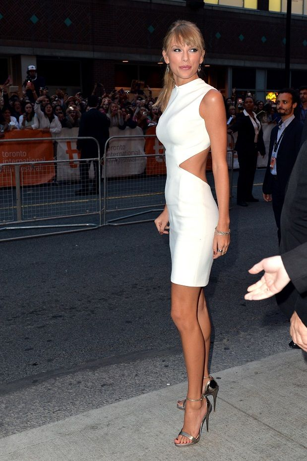 Taylor Swift in Calvin Klein at the 'One Chance' Toronto Film Festival premiere