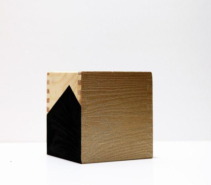 Drewniane pudełko na przybory  - KUKUdesign - Dekoracja stołu