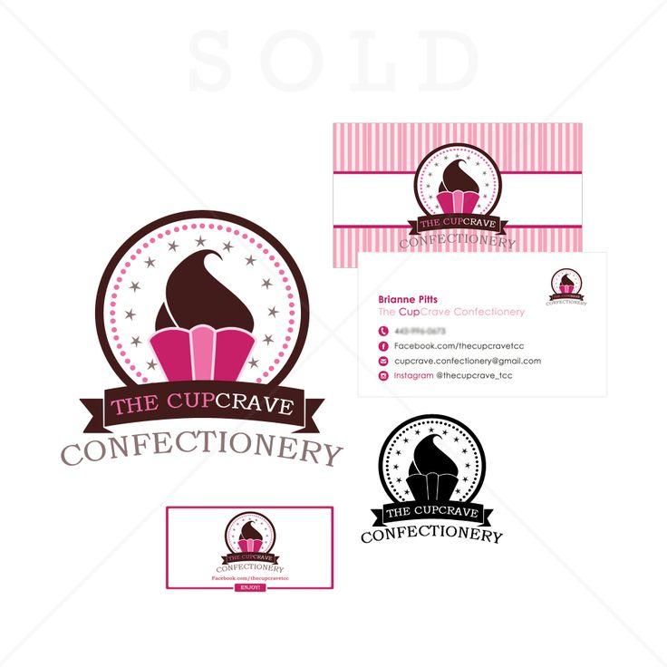 The Cupcrave Confectionary | Cupcake logo designs