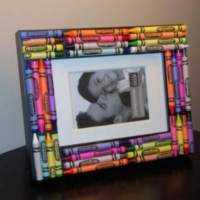 kid crafts diy-craftsTeacher Gifts, Teachers Gift, Frames Crafts, Gift Ideas, Appreciation Gift, Kids Crafts, Picture Frames, Pictures Frames, Crayons Frames