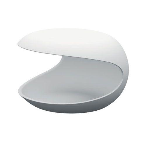 White shell table - design Salvatore Indriolo - Zanotta