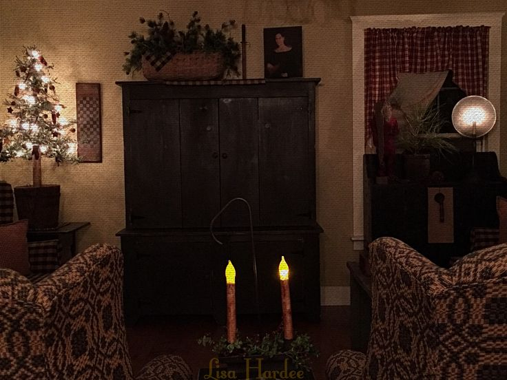 Prim Colonial Keeping Room Christmas Primitive Style