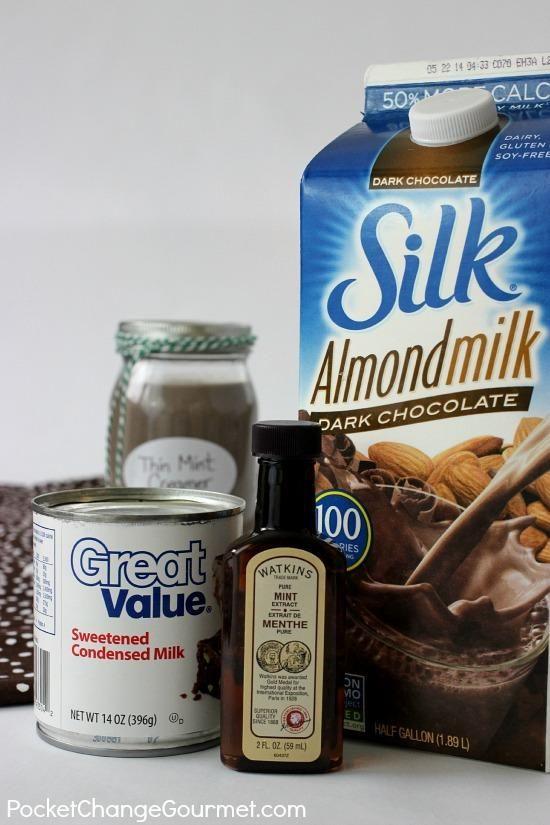3-ingredient Thin Mint Creamer | Recipe on PocketChangeGourmet.com